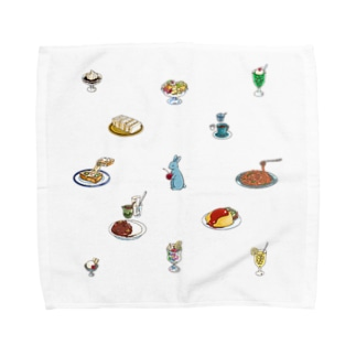 純喫茶ブルーラビット POPめモチーフ Towel handkerchiefs