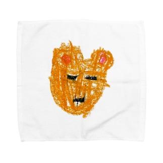 子どもの絵をオリジナル雑貨にします【aad (アード)】の【オーダー見本】 子どもの絵をベビーグッズにします Towel Handkerchief