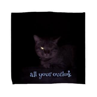 hakuryusの猫   すべてお見通し Towel handkerchiefs
