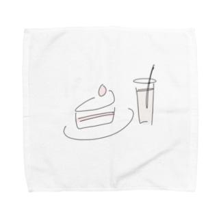 はなちゃんのケーキ Towel handkerchiefs