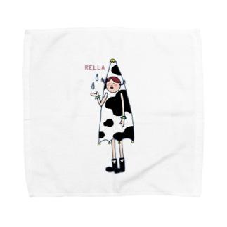 レーラ(牛柄) Towel handkerchiefs