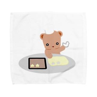 クッキーとクマさん Towel handkerchiefs