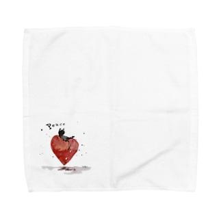 Peace cat Towel handkerchiefs