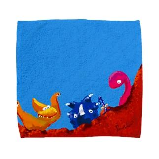 Dwarf with dinosaur!!  Towel handkerchiefs