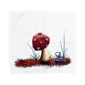 Dwarf with mushroom.  Towel handkerchiefs