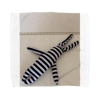 helLoverylUckyMEのたてしまよこしまななめしまちゃん Towel handkerchiefs