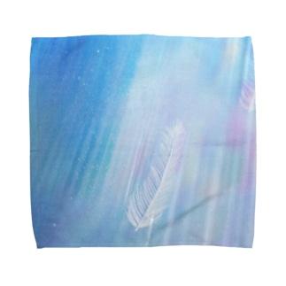 Wings in flowing Rainbow Towel handkerchiefs