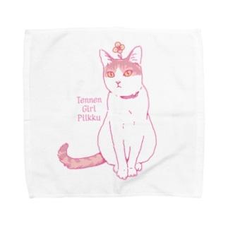 天然ガール・ピルク Towel handkerchiefs