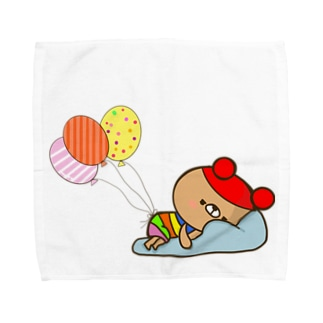 虹色クマ Towel handkerchiefs