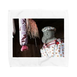 幸運の地蔵菩薩 Towel handkerchiefs
