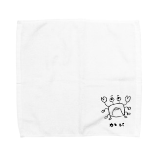 かに。 Towel handkerchiefs