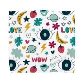かわいいを集めたデザイン Towel Handkerchief