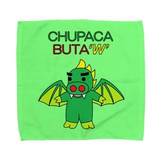 翼を広げたチュパカブタ君(ハンカチ版) Towel handkerchiefs