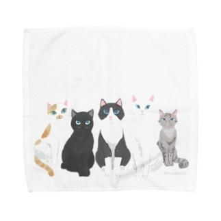 All we need is cat  Towel handkerchiefs