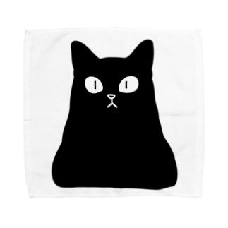 おにぎり型猫(黒猫) Towel Handkerchief