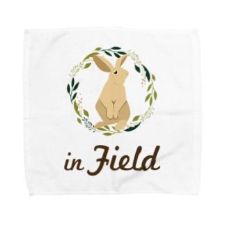 in Field ロゴ Towel Handkerchief