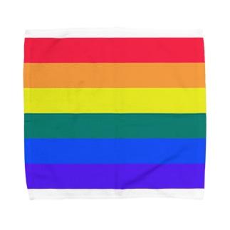 6色レインボー Towel handkerchiefs