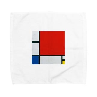 モンドリアン Composition with Red, Blue and Yellow  Piet Mondrian1930 Towel handkerchiefs
