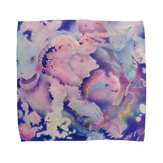 かじる Towel handkerchiefs