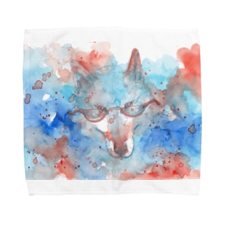 May wolf with glasses Towel handkerchiefs