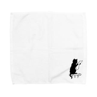 DECODED CAT Towel handkerchiefs