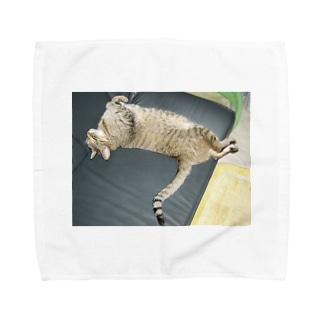 イにゃバウアーミンタ Towel handkerchiefs