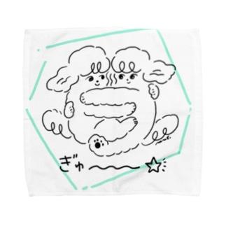 うちのわんこちゃん「おともだち」 Towel handkerchiefs
