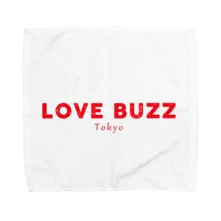 LOVEBUZZ logo RED Towel Handkerchief