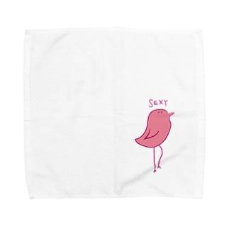 SEXYな鳥 Towel handkerchiefs
