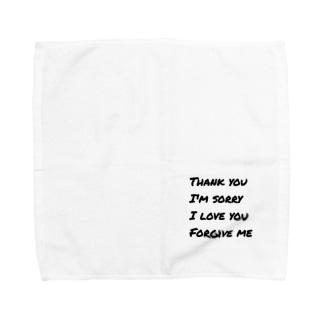 ありがとう*ごめんなさい*あいしてるよ*ゆるしてください Towel handkerchiefs