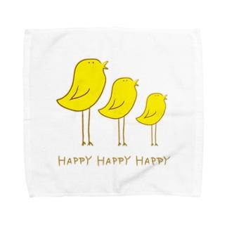 Happyな鳥 Towel handkerchiefs