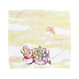 白蛇七福神 Towel handkerchiefs