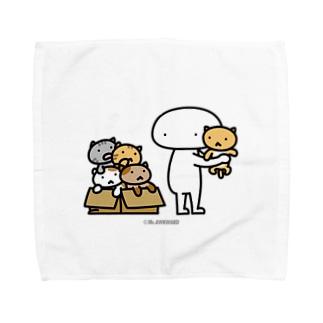 Mr.AWKWARD with Kitty Towel handkerchiefs
