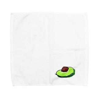 切ったアボカド Towel handkerchiefs