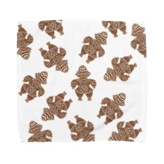 土偶の刺繍ランダム2 Towel handkerchiefs