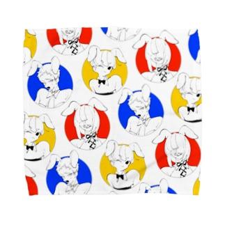 丸バニー Towel handkerchiefs