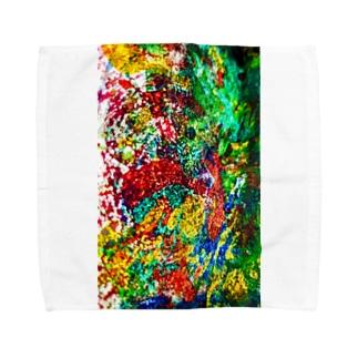 絵画の花 Towel handkerchiefs
