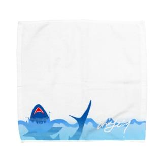 mi-u-@sharktam. Towel handkerchiefs