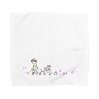 おでかけ Towel handkerchiefs