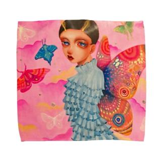 可愛い蛾の子 Towel handkerchiefs