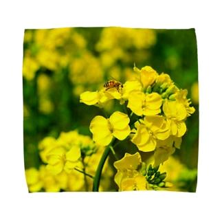 菜の花と蜜蜂 Towel handkerchiefs