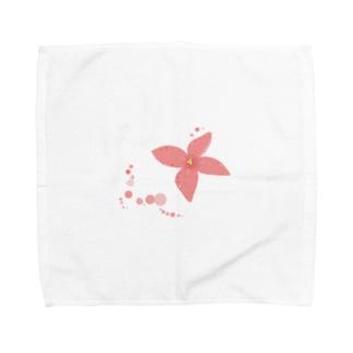 花一輪、水玉とともに Towel handkerchiefs