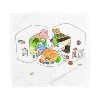テレビからこんにちは Towel handkerchiefs