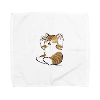 喜ぶ猫 Towel handkerchiefs