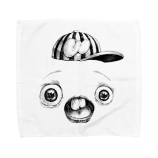 さちおくんの顔の写真 Towel handkerchiefs