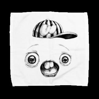 キャットタング鈴原のさちおくんの顔の写真 Towel handkerchiefs