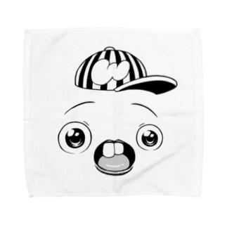 さちおくんの顔の絵 Towel Handkerchief