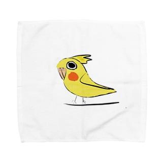 オカメインコ(ルチノー)グッズ デザイン2 Towel handkerchiefs