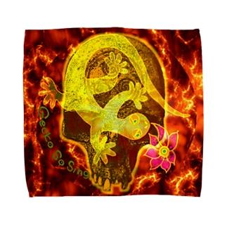 月光装身具コミカルスカル Towel handkerchiefs