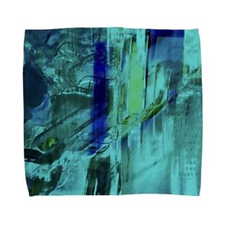 海の中を彷徨う② Towel handkerchiefs